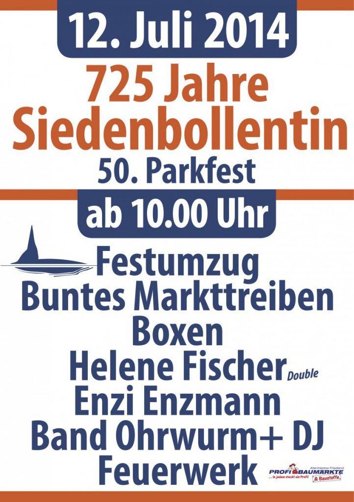 Flyer Parkfest