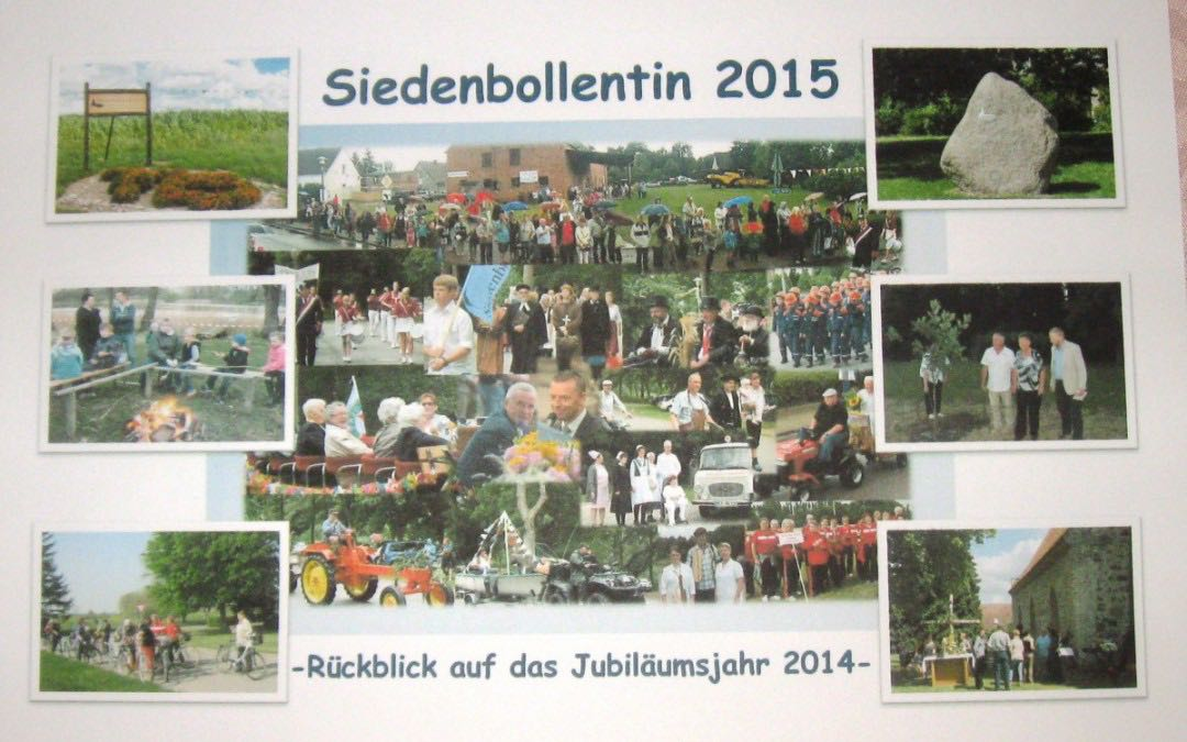 Der Kalender 2015 und das 725 Jahre Siedenbollentin Fotobuch sind ab sofort bestellbar
